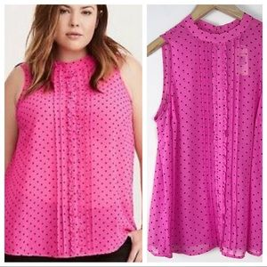 NWT Torrid Polka Dot Sleeveless Top size 0
